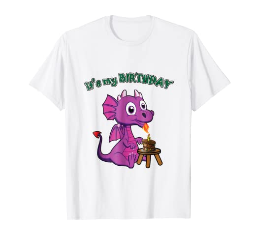 Its My 1st Birthday Dragon Blew Candle Shirt