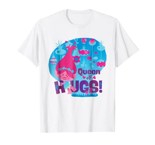 ffb27606 Amazon.com: DreamWorks' Trolls Queen of Hugs! Poppy T-Shirt: Clothing