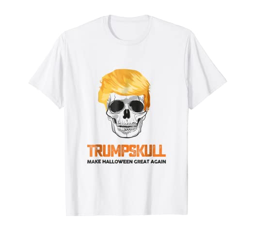 d1812d337 Image Unavailable. Image not available for. Color: TRUMPSKULL Halloween T- Shirt - Halloween Costume Gift