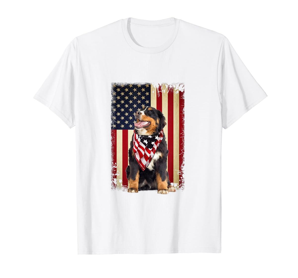 Bernese Mountain flag country-Men's T-Shirt-White