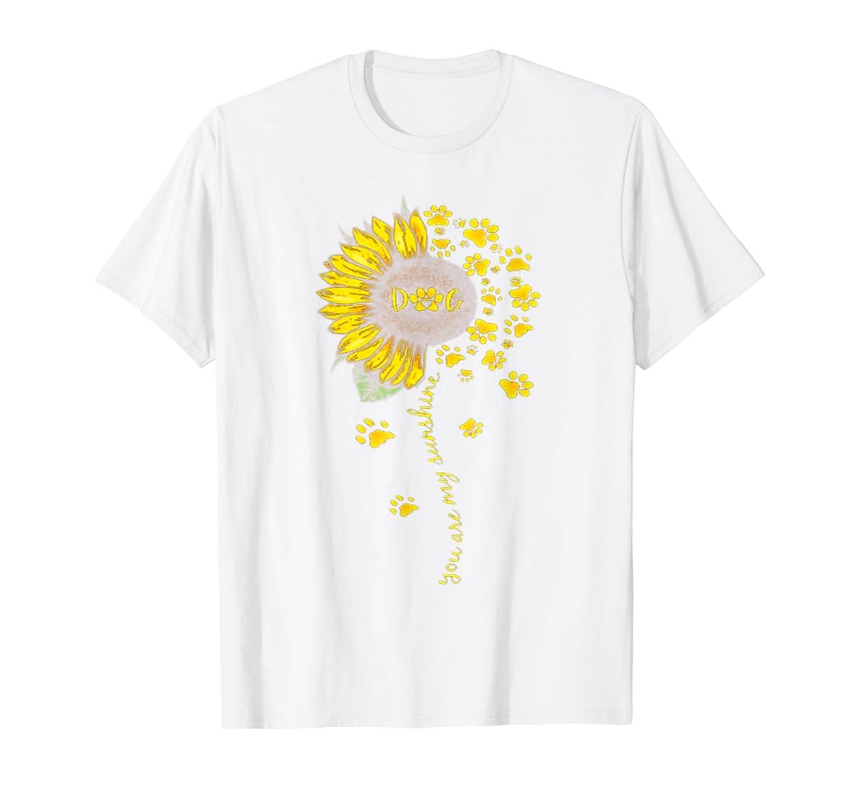 You Are My Sunshine Dog Tshirt-Men's T-Shirt-White