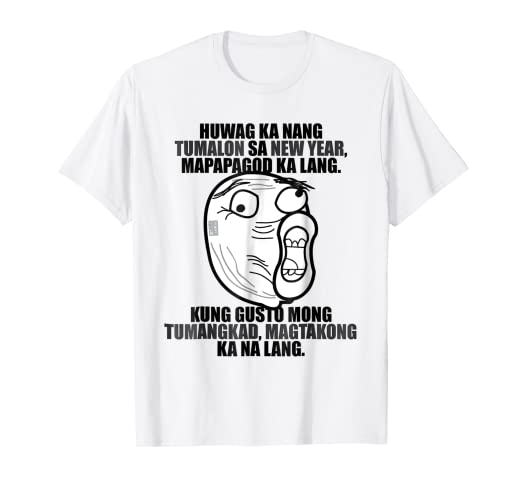 ac295e0e Amazon.com: FUNNY PINOY HUGOT MEME JUMPING TALLER HEELS NEW YEAR T ...