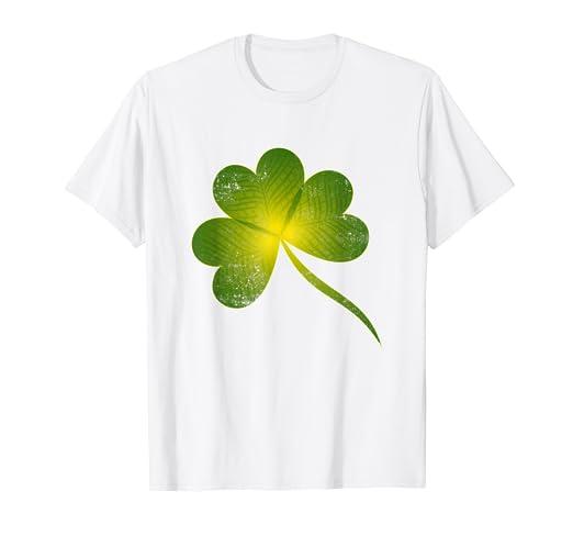 ae827f0c04a6d Amazon.com  Vintage 4 Leaf Clover Shirt For Women
