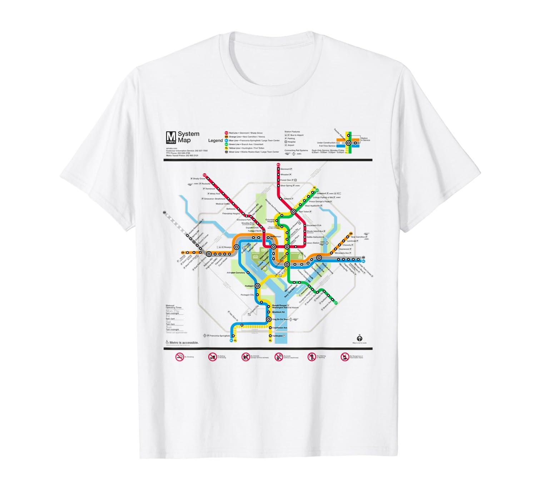 Dc Subway Map Pillow.Washington Dc Metro Map Silver Line T Shirt