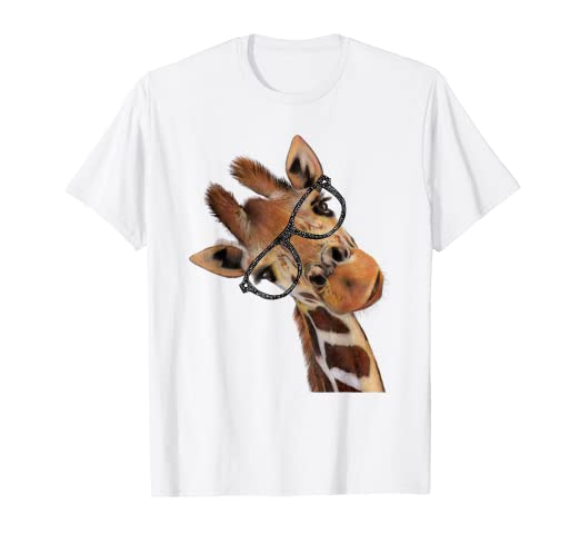 ea64d501 Amazon.com: Good Time Hipster Giraffe T-Shirt Men's Women's ...