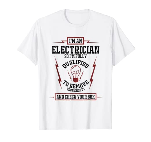 cff24583 Image Unavailable. Image not available for. Color: Mens Electrician Husband Shirt  Funny Electrical Worker Tee