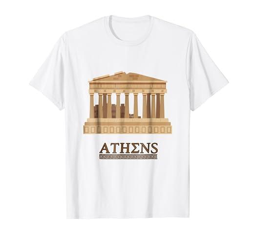 Amazon.com  GREECE PARTHENON T Shirt Athens Souvenir Gift Shirt ... 2980e00b0b0