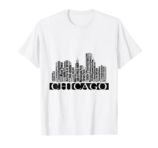 f494664c4 Amazon.com: Chicago, I love Chicago, Chi City, Windy City, T-shirt ...
