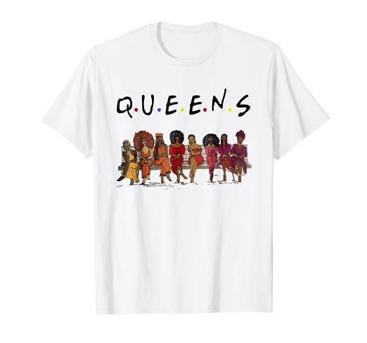 a basso prezzo c531a f34a5 Amazon.com: Black Queens Natural Hair T-Shirt Birthday for ...