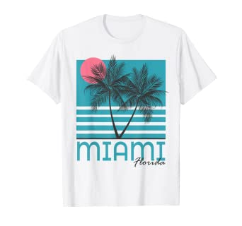 9e807cb54d6fa0 Image Unavailable. Image not available for. Color  Miami Beach Florida T  Shirt ...