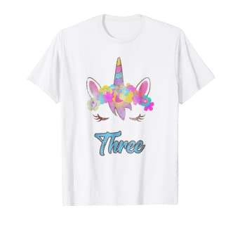 Image Unavailable Not Available For Color Whimsical 3rd Birthday Unicorn Shirt