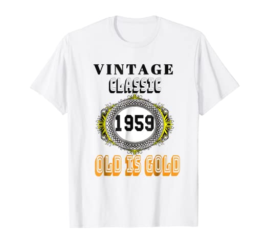 Image Unavailable Not Available For Color 1959 Classic Vintage Tee 60th Birthday