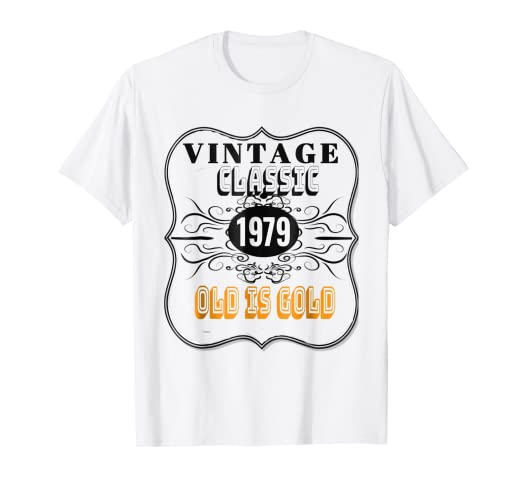 e5dc18c5 Image Unavailable. Image not available for. Color: 1979 Classic Vintage Tee  40th Birthday T Shirt Men & Women