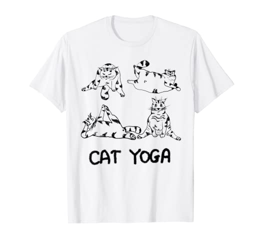 Amazon.com: Cat Yoga Shirt for Men Women Kids: Clothing