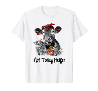 85149ecd Image Unavailable. Image not available for. Color: Not today Heifer shirt