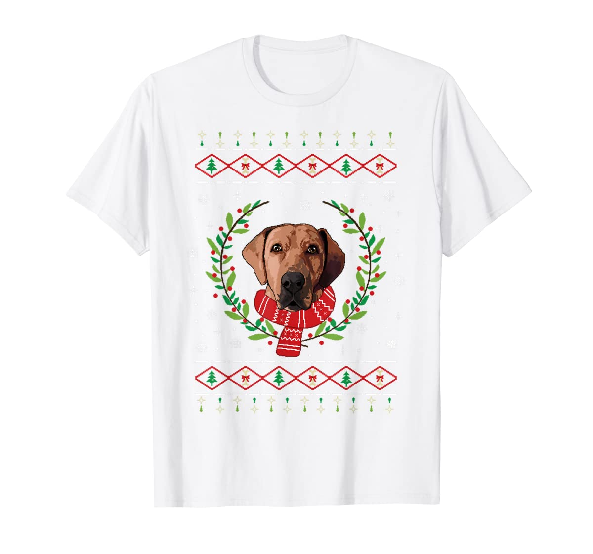 Broholmer Ugly Christmas Jumper T-Shirt Gift T-Shirt-Men's T-Shirt-White