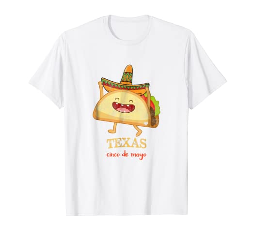 Amazon.com: Texas Taco Shirt Funny Cinco De Mayo T-Shirt ...