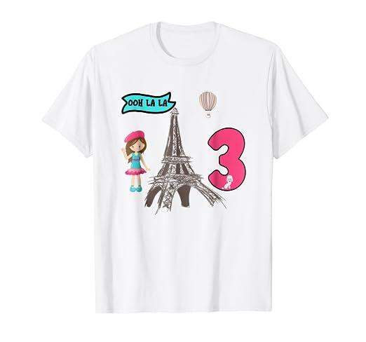 Amazon Birthday Paris T Shirt 3 Year Old Birthday Tee Clothing