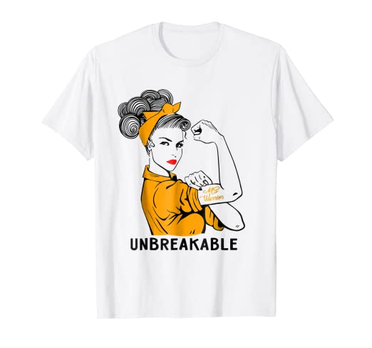 ea24ca7e Image Unavailable. Image not available for. Color: MS Warrior Unbreakable T-Shirt  Multiple Sclerosis Awareness