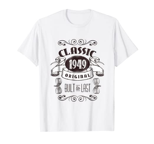 Image Unavailable Not Available For Color Classic 1949 70th Birthday Celebration T Shirt Distressed