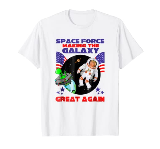 994a3d56e Image Unavailable. Image not available for. Color: Space Force 2020 Funny  Donald Trump Again Alien T-shirt