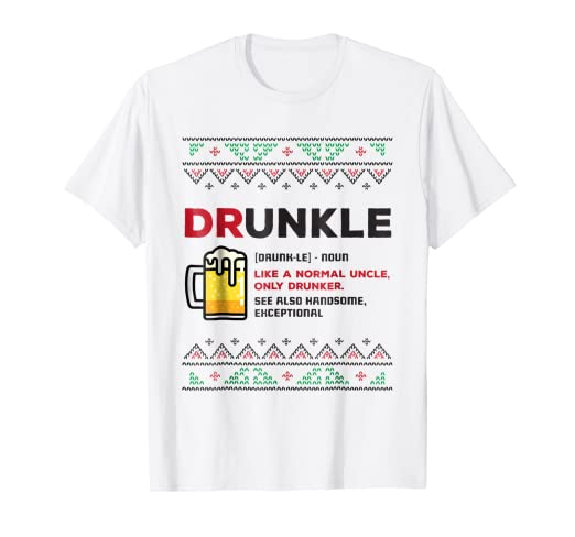 712a5f24 Amazon.com: Funny Drunkle Ugly Christmas T Shirt Men Uncle Dad ...