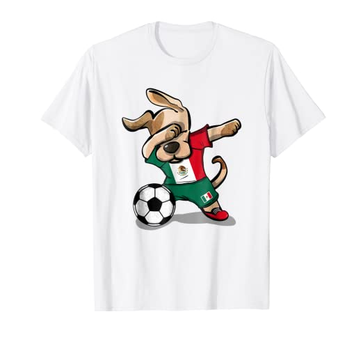 4e04d26f789 Image Unavailable. Image not available for. Color: Dog Dabbing Soccer Boy  Mexico Jersey Shirt Mexican Football