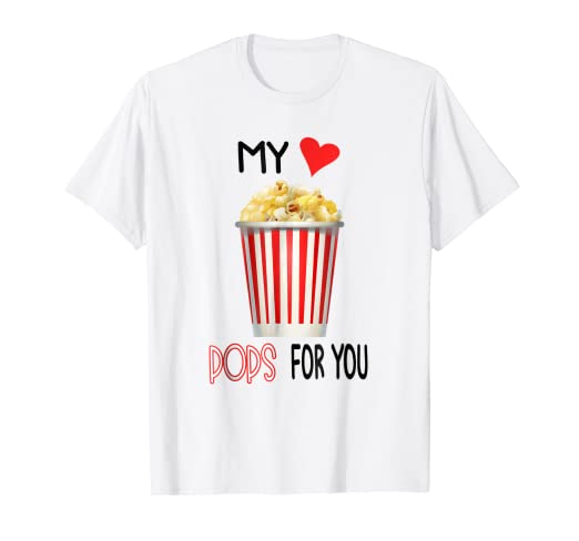 Amazon com: Popcorn Valentines Day Pun Shirt Funny Food