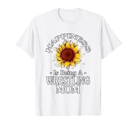 7d74639f Amazon.com: Mother's Day T-Shirt Happiness Is Being Wrestling Mom: Clothing