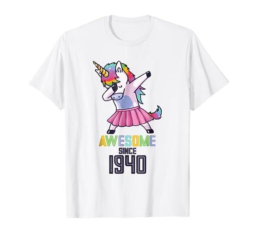 Amazon com: Unicorn Dab Dabbing Awesome Since 1940 79th Girl