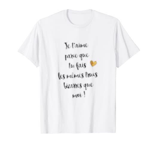 Amazon Com Je T Aime T Shirt French Shirt Love Quotes Tee Casual