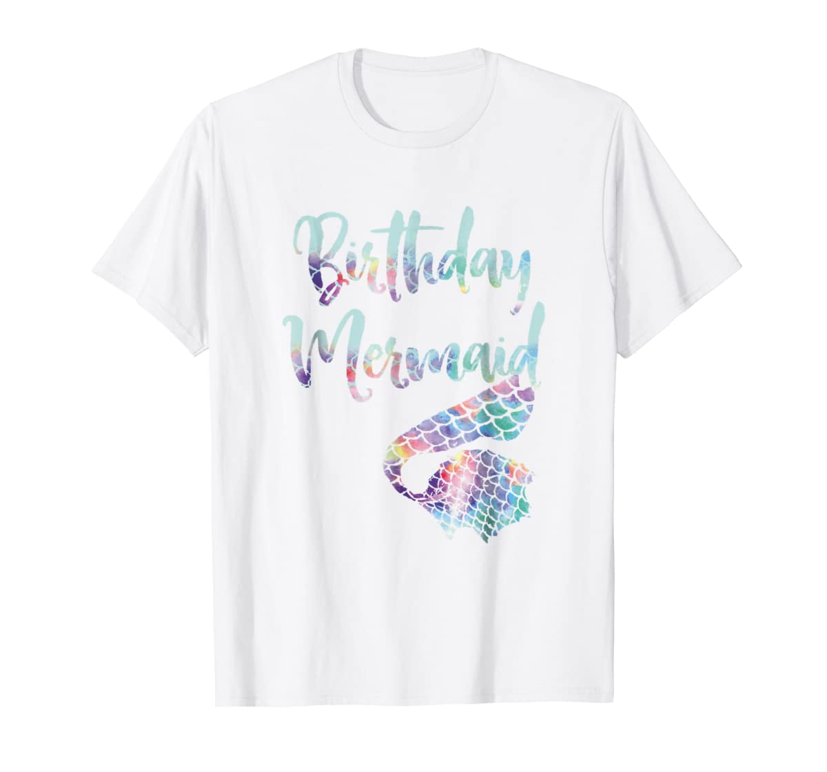 Birthday Mermaid Shirt-Men's T-Shirt-White