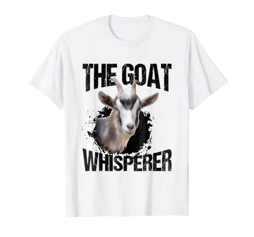 aa08e0aee Image Unavailable. Image not available for. Color: The Goat Whisperer Funny  Goat Lover for Farmer Gift T-Shirt