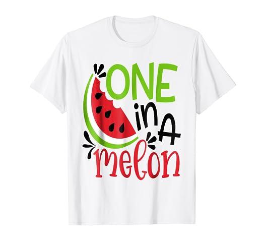 fa44a79cf8 Amazon.com: ONE IN A MELON CUTE FUN SUMMER WATERMELON T-SHIRT: Clothing