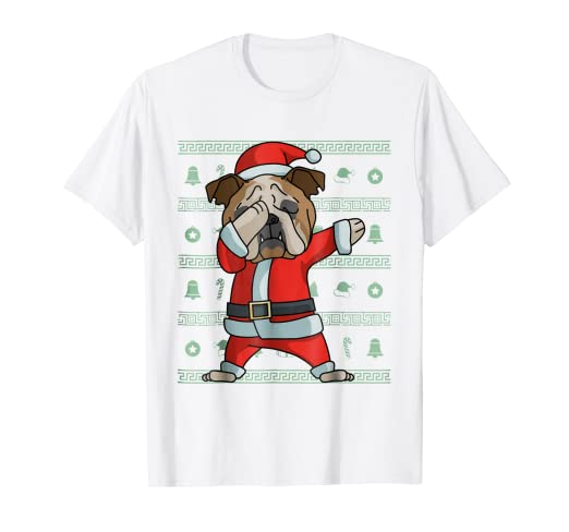 a81014d9 Image Unavailable. Image not available for. Color: Dabbing English Bulldog T -Shirt Funny ...