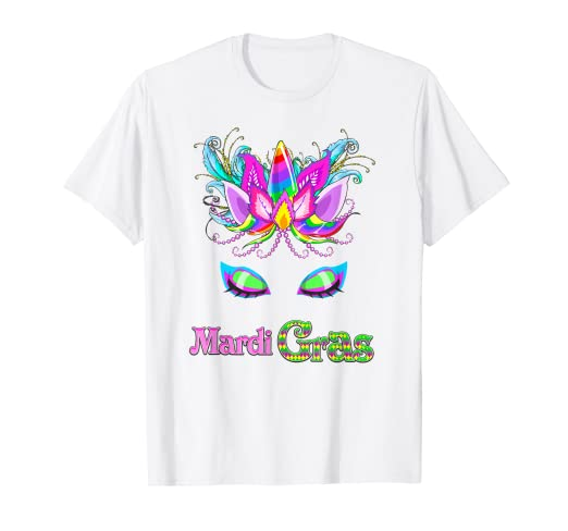 dcbd48462be08a Image Unavailable. Image not available for. Color: Girls Unicorn Mardi Gras  T Shirt ...