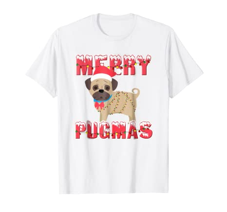 939a47f0 Image Unavailable. Image not available for. Color: Merry Pugmas Cute  Christmas Pug T-Shirt