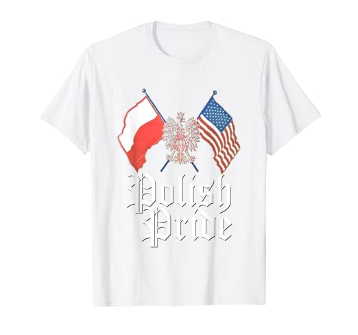 4b13d8f168d5 Image Unavailable. Image not available for. Color: Polish Pride Shirt  American Flag Poland Eagle Dyngus Day