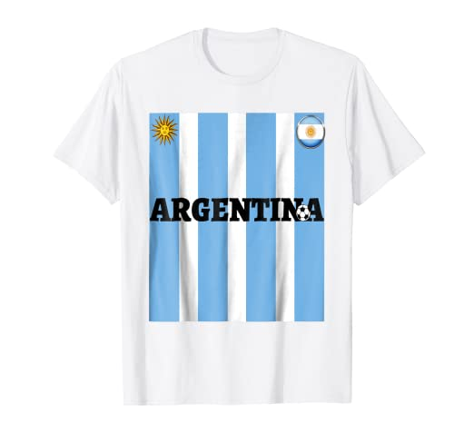 Argentina Flag Jersey-Travel- Soccer-Football T Shirt
