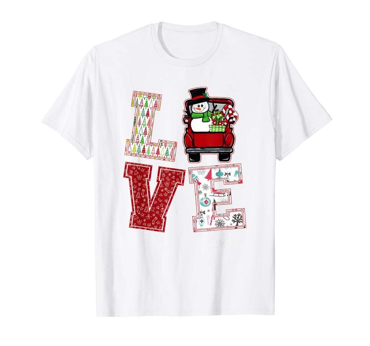 Christmas Love #Mama T-Shirt-Men's T-Shirt-White