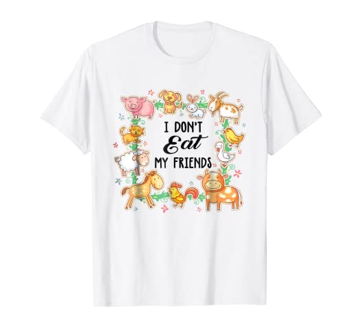 83e7e5b1 Amazon.com: vegan-girl-mom-grandma-i-don't-eat-my-friends-gift-t ...