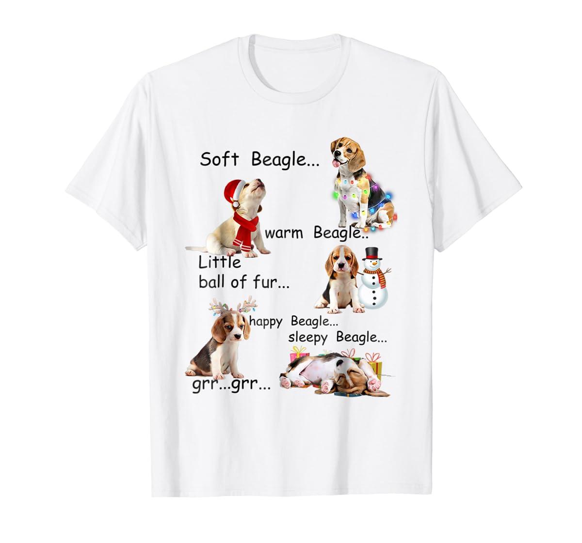 Beagle 5 Shades - Nice Dog Christmas Tshirt-Men's T-Shirt-White