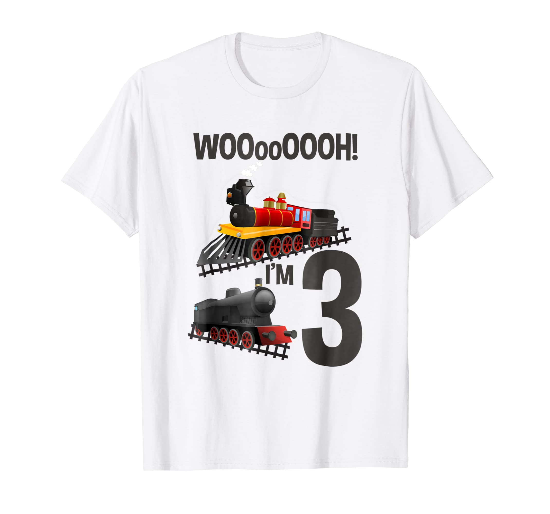 Im 3 Trains Birthday T Shirt For Toddlers Clothing
