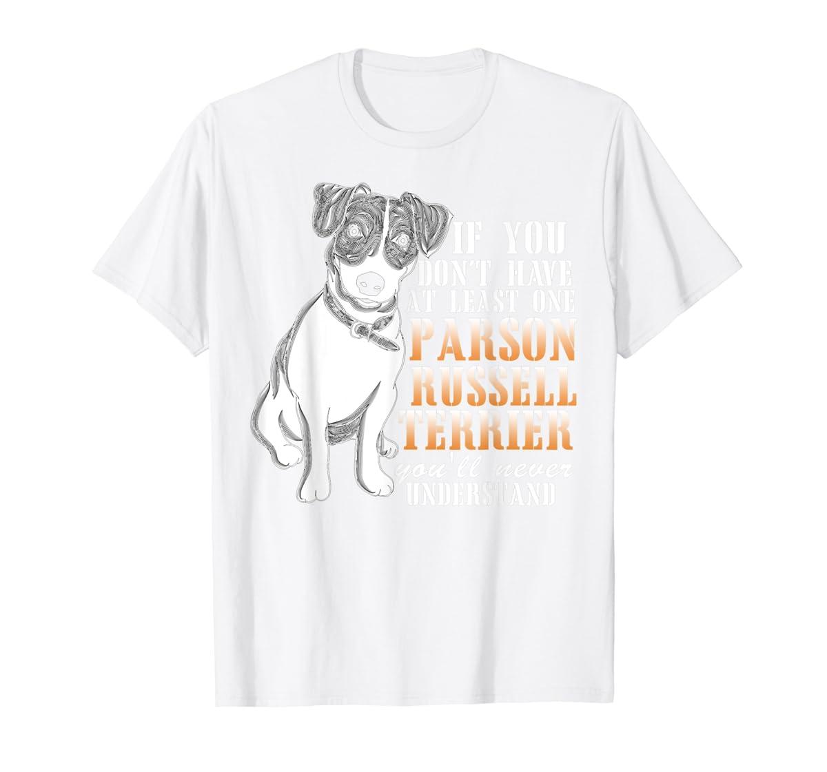 Parson Russell Terrier T Shirt, I Love My Dog T Shirt-Men's T-Shirt-White
