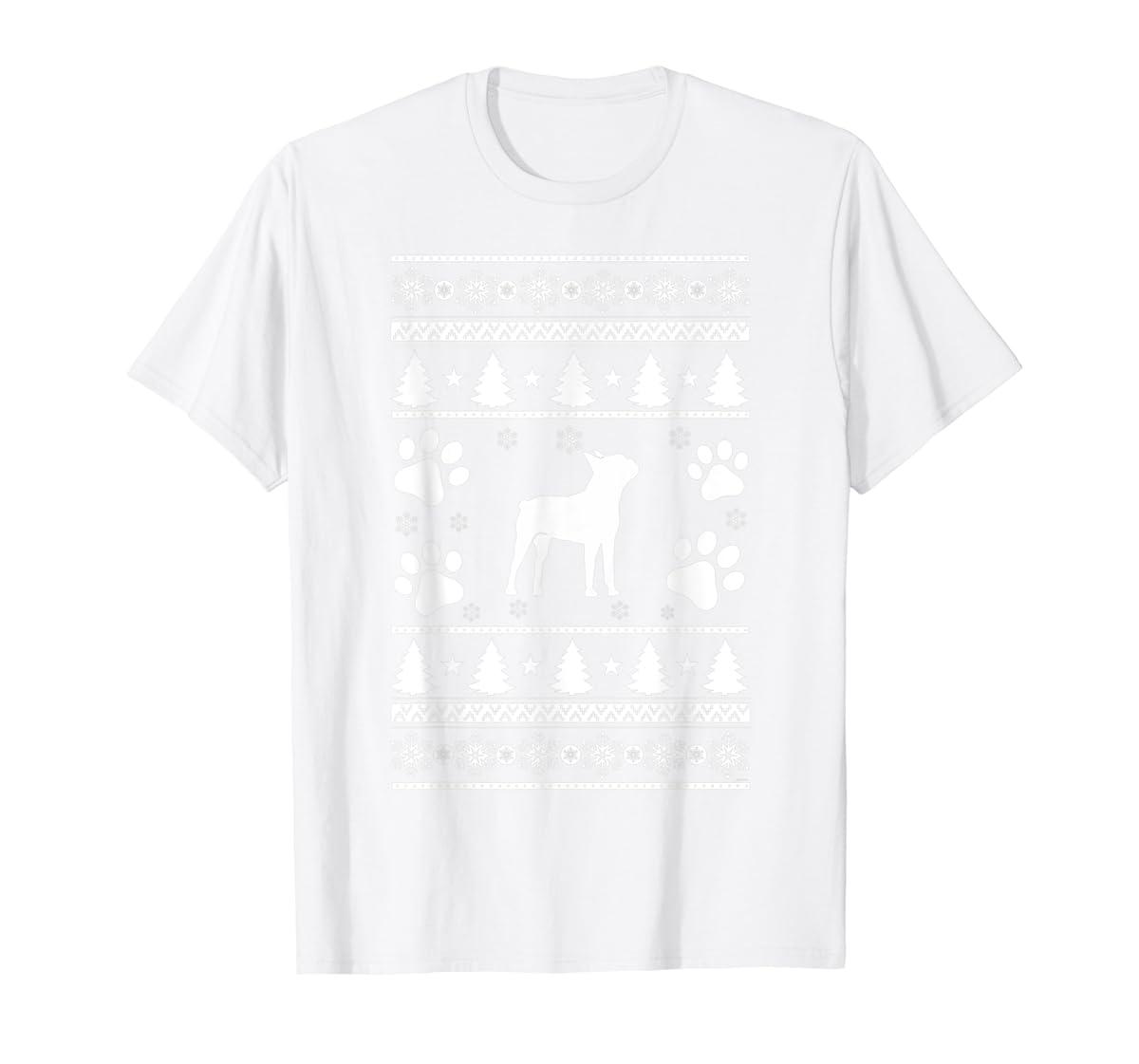 Boston Terrier lovers ugly christmas gift T-Shirt-Men's T-Shirt-White