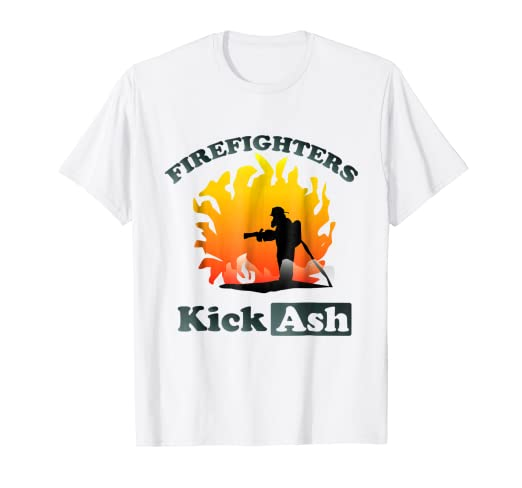 7c6c769da2 Image Unavailable. Image not available for. Color: Firefighter Job Shirt  Men Funny - Firefighters Kick Ash