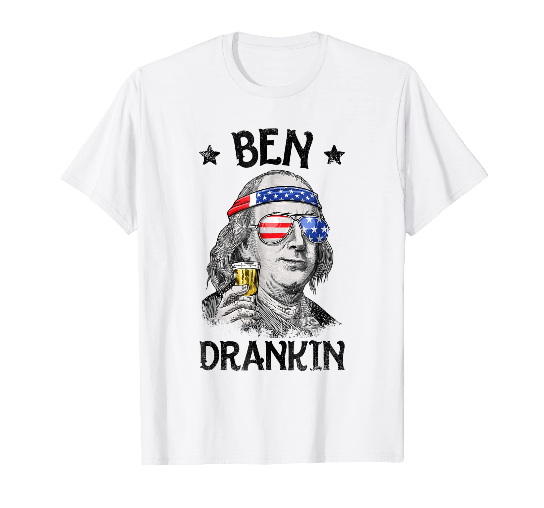 daa721c131582 Amazon.com  Ben Drankin 4th of July T Shirt Benjamin Franklin Men Gifts   Clothing