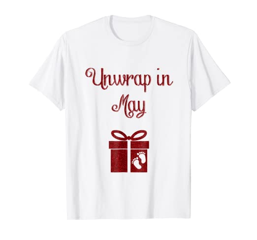 784c066a02a Image Unavailable. Image not available for. Color  Christmas Pregnancy  Announcement Shirt ...