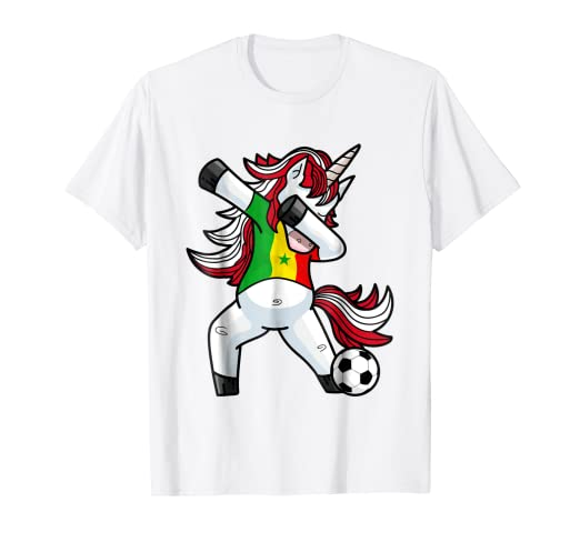 Image Unavailable. Image not available for. Color  Dabbing Soccer Unicorn T Shirt  Senegal Senegaleses Football 44d9b092b