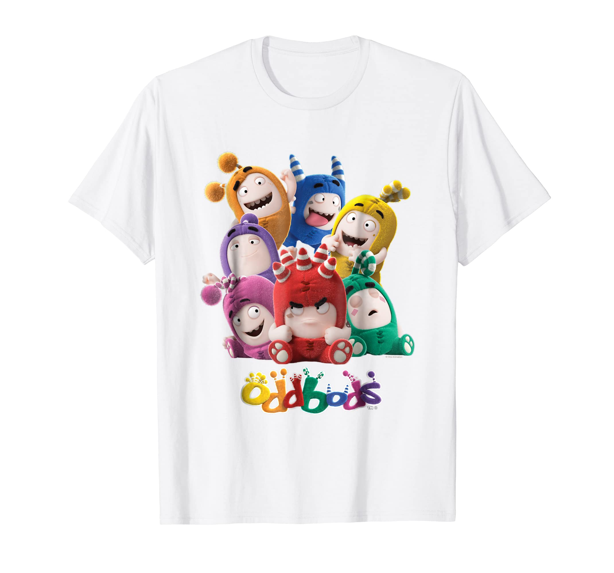 7f2a6fd38 Oddbods All 7 Characters in Cute Funny Poses T Shirt-ln – Lntee